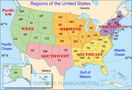 map us states regions types map of united states regions ornamental plant information