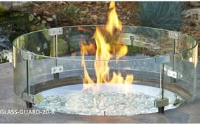 Fire Pit With Glass by Fire Pit Glass Wind Guards From The Outdoor Great Room