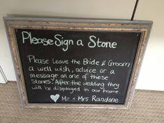 signing stones for wedding thank you typography sign for wedding printable file only