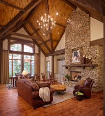 river rock fireplace with vaulted ceilings tikspor