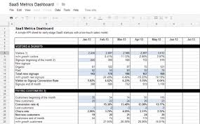 Kpi Report Template Excel Template With Kpi Dashboard Saas Startups