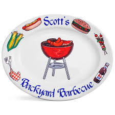 personalized barbecue platter personalized bbq platter