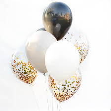 the hill balloon bouquet black and white balloon bouquet