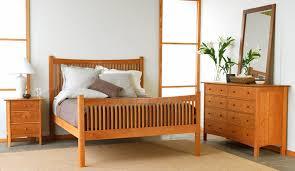 Hardwood Bedroom Furniture Sets by Modern Shaker Bedroom Furniture Set Shown In Natural Cherry Wood