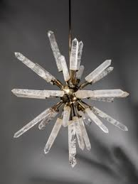 Sputnik Light Fixture by Rock Crystal And Bronze U0027starburst U0027 Chandelier Crystal Healing