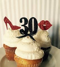 custom cupcake toppers custom number glitter shoes 30th birthday cupcake toppers