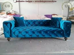 Blue Velvet Chesterfield Sofa Shiny Blue Velvet Chesterfield Sofa New Design Exclusive Design