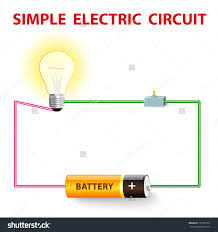 simple electric circuit electrical network switch stock vector a