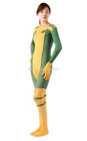 x man costumes ms rogue superhero zentai full body suit halloween