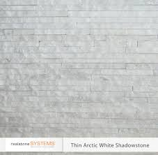 thin arctic white shadowstone thinstone veneers from realstone