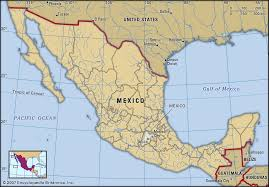 Mexico On Map Childrens Map Of Mexico You Can See A Map Of Many Places On The