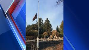 Flags Half Staff Today California Stay Strong Santa Rosa U0027 American Flag Waves Above The Rubble Fox40