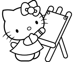 kitty halloween coloring kids coloring