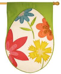 easter egg sale floral easter egg glitter applique house flag for sale