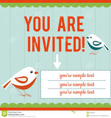 Invitation Card Samples Invitation Card Template Stock Vector Image 50894666