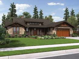 Craftsman Ranch House Plans Like Garage Door And