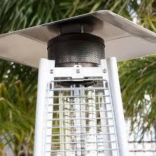 42 000btu outdoor pyramid propane glass tube dancing flames patio