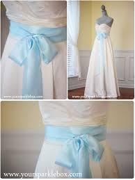 tiffany blue bridal sash