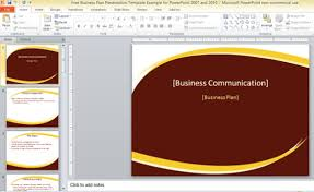 free powerpoint template for business plan presentation free swot
