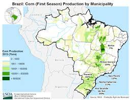 Usda Map Brazil Crop Production Maps By Municipality