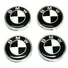 black and white bmw logo bmw black white logo 4 x 68mm alloy wheel caps hubs