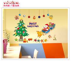 popular christmas showcase buy cheap christmas showcase lots from wallpaper santa claus christmas tree wall stickers removable bedroom showcase christmas decoration china mainland