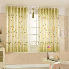 Bay Window Curtain Rod Modern Minimalist Country Style Leaf Pattern Bay Window Curtain