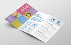 tri fold program modern tri fold brochure template in psd ai vector