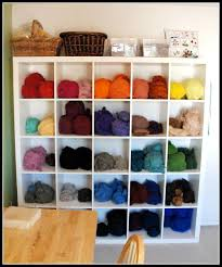 Yarn Storage Cabinets Ikea Expedit Shelf Yarn Organization Storage Idea Yarn Storage
