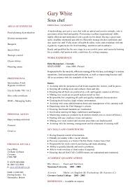 sous chef resume examples sous chef example of cover letter