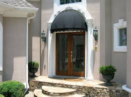 Exterior Door Awnings Miraculous Awning For Front Door Kitchen Home Gallery Idea