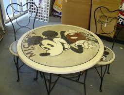 mickey mouse end table mickey mouse bistro table chairs