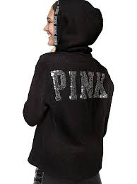 new cozy bling sherpa quarter zip hoodie pink victoria u0027s secret