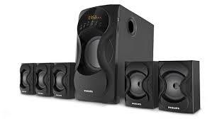 home theater system delhi ncr multimedia speaker 5 1 spa5160b 94 philips
