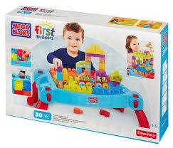 mega bloks first builders table vaikų prekės stalo žaidimai ir galvosūkiai dėlionės stalo