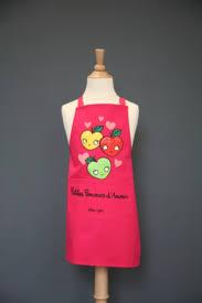 torchon cuisine original tablier valérie nylin petites pommes d amour accessoire cuisine