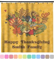 happy thanksgiving shower curtain personalized potty