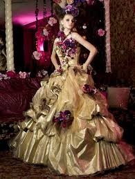 gold wedding gown gold yellow and orange wedding dresses