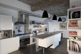 industrial kitchen ideas kitchen contemporary industrial kitchen with big black pendant