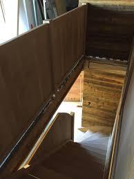 garde corps bois escalier interieur escalier garde corps en bois plein menuiserie