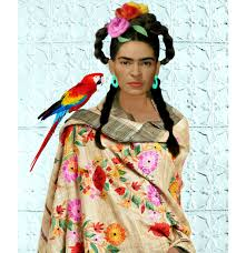 frida kahlo parrot rebozo print instant digital download