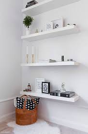 bedroom shelves a chic 42 spm apartment in sweden white floating shelves clutter