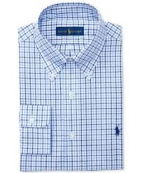 polo ralph lauren pinpoint oxford blue stripe dress shirt dress