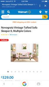 Vintage Tufted Sofa by Novogratz Vintage Tufted Sofa Sleeper Ii Multiple Colors For Sale