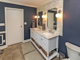 navy blue bathroom ideas beautiful navy blue bathroom ideas with globe wall sconce sink