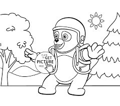 oso coloring pages for kids printable free special agent oso