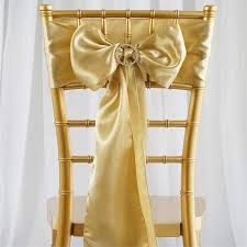 chair sash satin chair sash 6x106 chagne 5pcs efavormart
