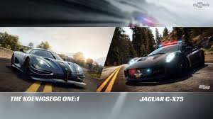 koenigsegg ghost wallpaper need for speed koenigsegg1 vs jaguar cx75 hd wallpaper bighdwalls