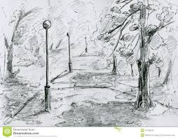 park playground drawing city