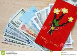 tet envelopes tet envelope lucky money stock photo image 49485551